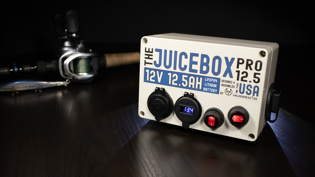 The Juicebox Pro 12.5 - A battery pack for kayak anglers project video thumbnail