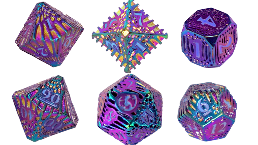 Solid Brass Rainbow Serpentine Dice by Polyhydra project video thumbnail