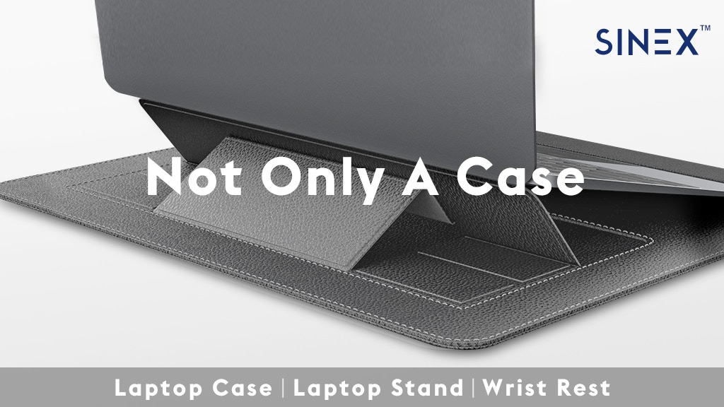 SINEX™-World's FlRST 3in1 MultiFunctional Laptop Stand Case!