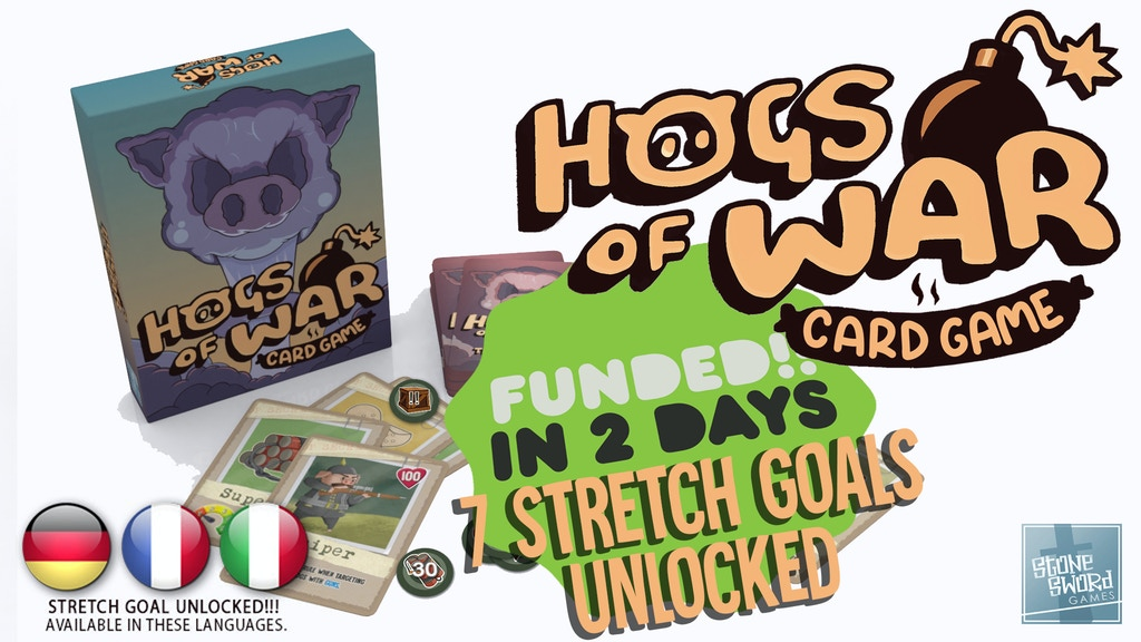 Hogs Of War The Card Game project video thumbnail