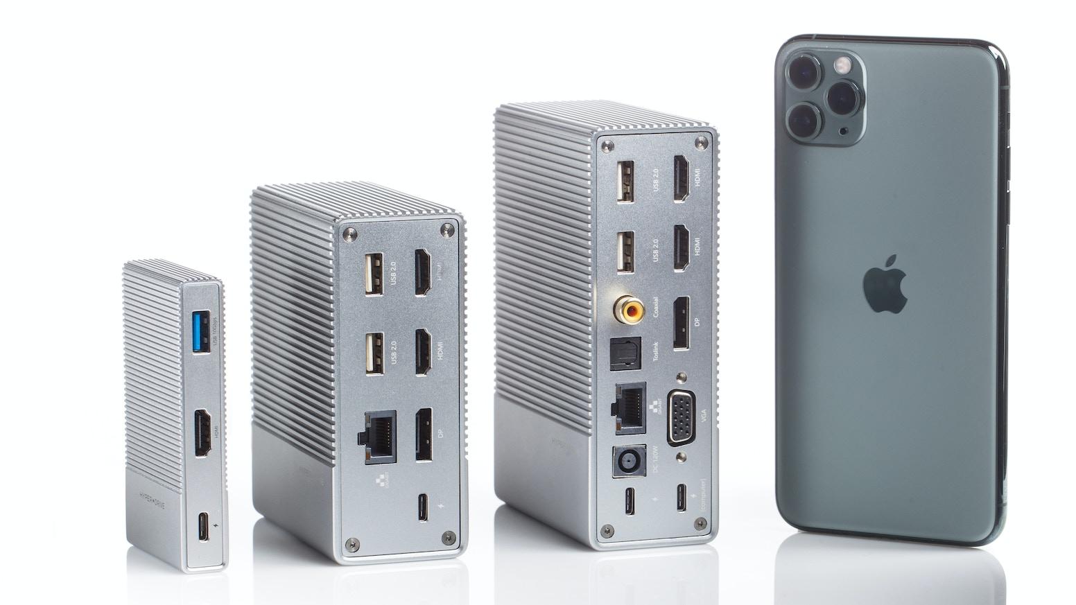 4K60Hz Video + 10Gbps USB 3.1 Gen 2 + 300MB/s UHS-II MicroSD/SD + 100W USB-C Power Delivery