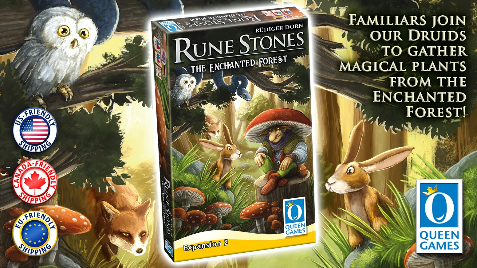 The second expansion to Rune Stones includes 8 new rune stones for new strategies as well as the Enchanted Forest!