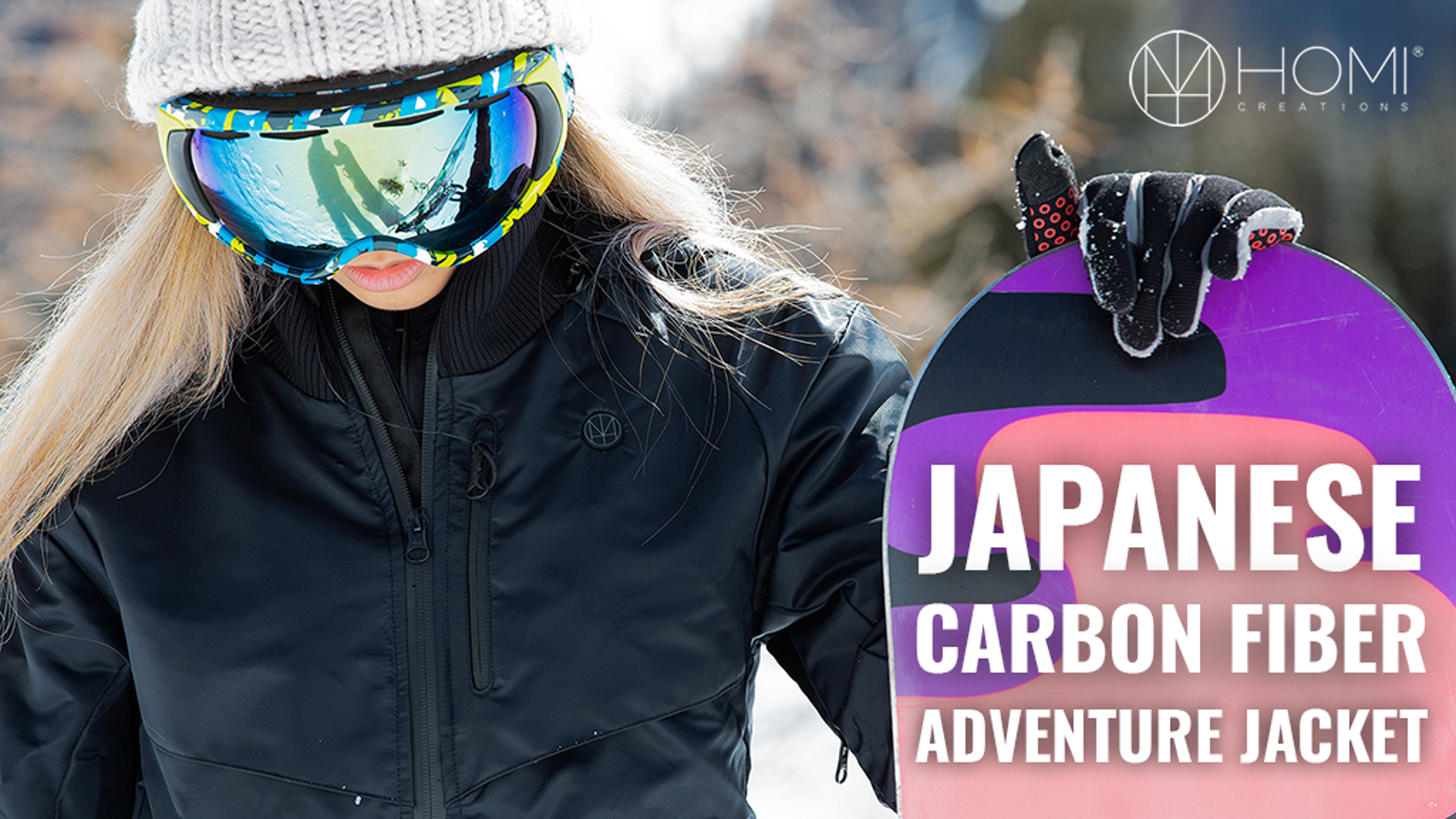 Click-to-heat. Japanese carbon fiber technology. Hidden face mask. Lighter than a water bottle. Down jacket warmth in a slim package.