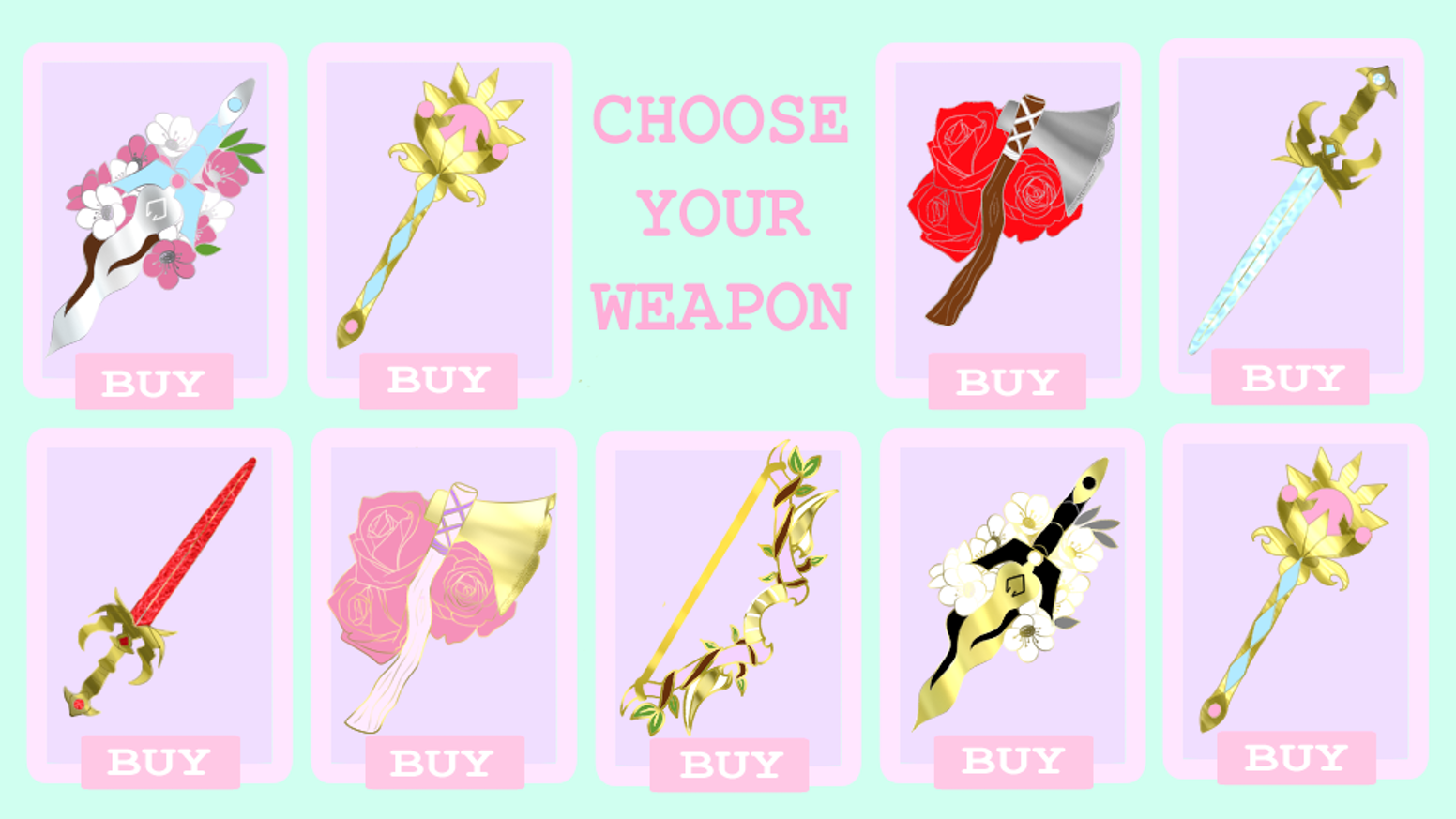 RPG inspired weapon's series of enamel pins from swords to bows to daggers to axes. Both magical and practical weapons included.