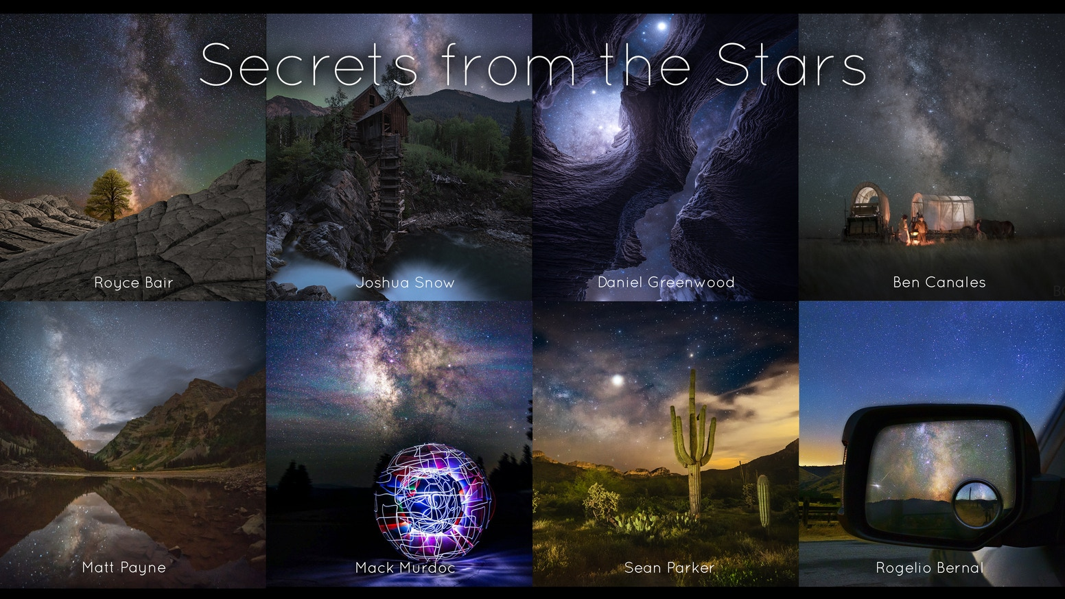 A high-quality hardcover book with 8 night photography masterclasses, each written by a world-class, award-winning astrophotographer