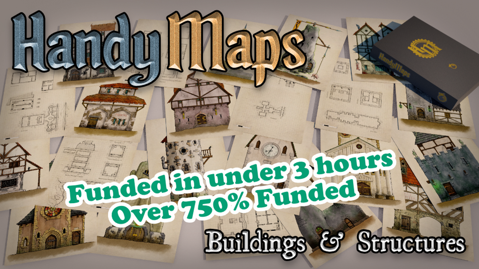 A5 building/structure card handouts by Gold ENnie award-winning cartographer, Glynn Seal. For all fantasy role-playing games.
