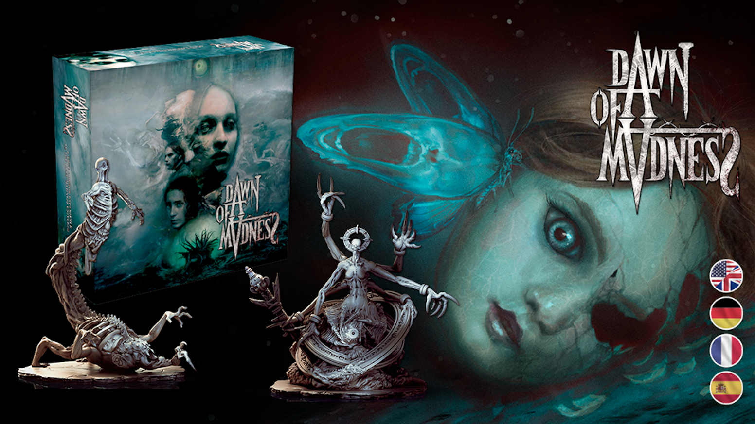 A mind-shattering story-driven cooperative board game for 1-4 players that is a true horror experience.