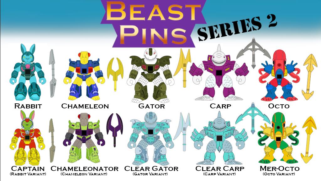 Beast Pins: Series 2