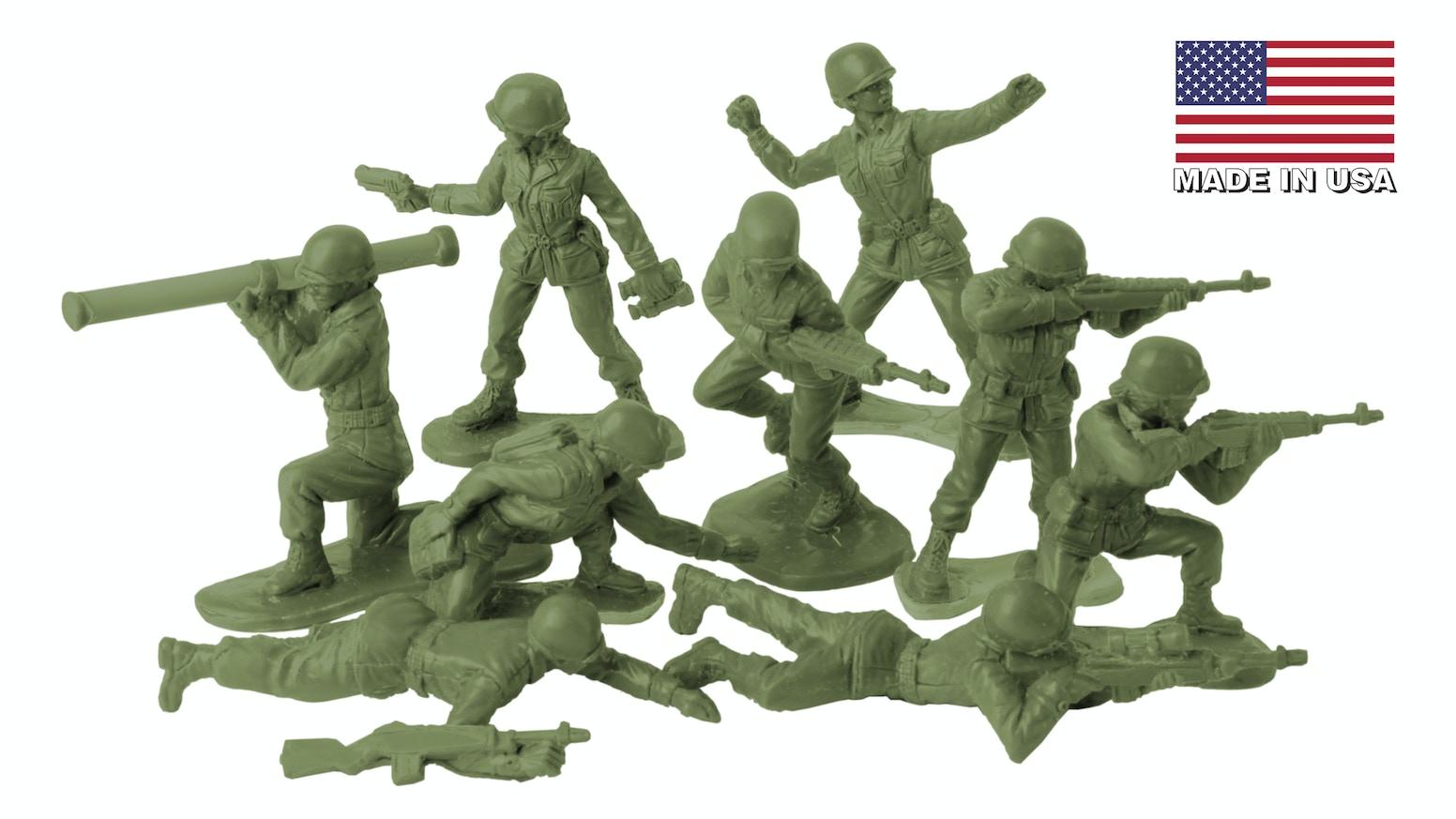 BMC Toys Plastic Army Women Toy Soldier Figure Set