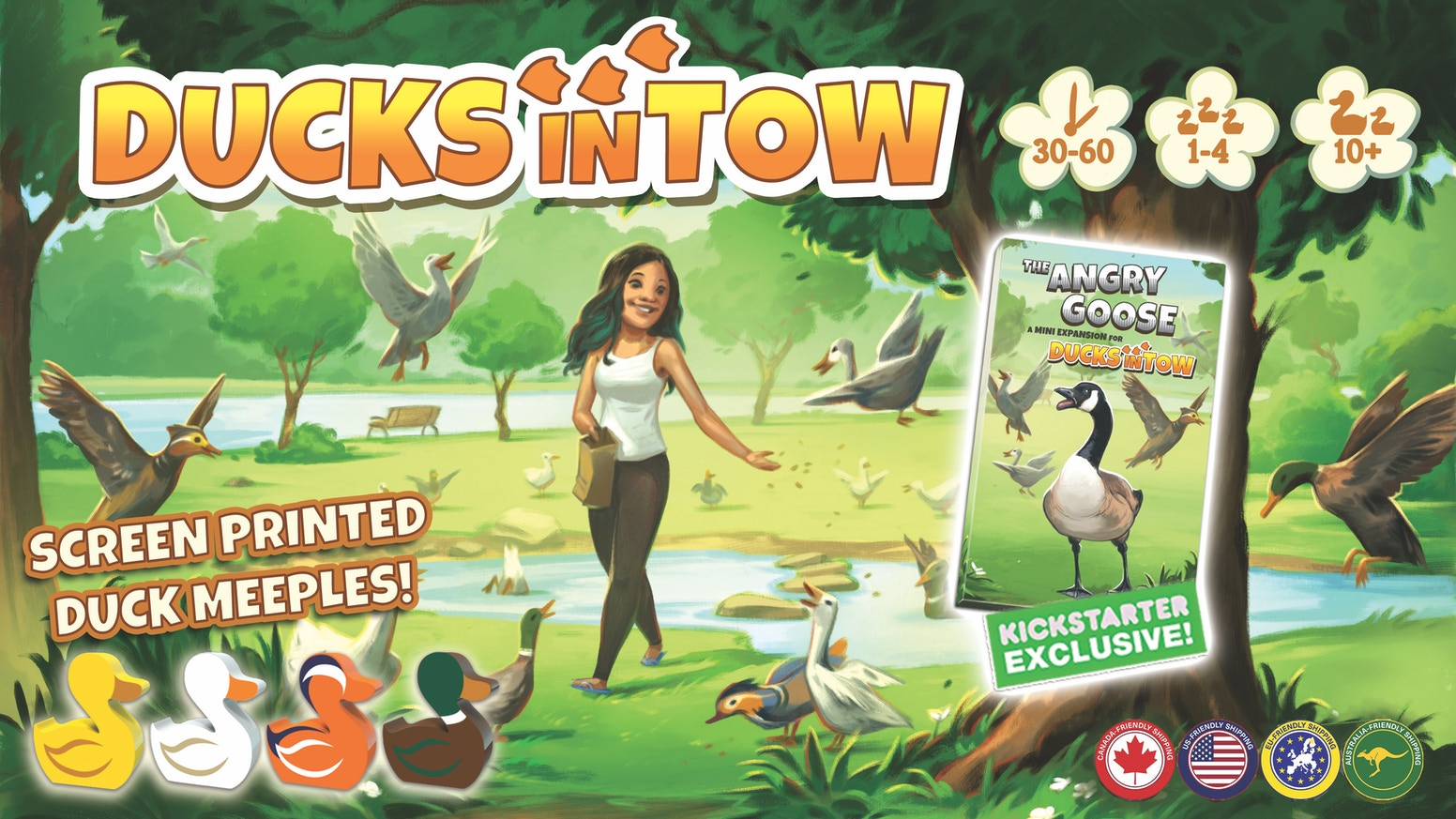 A strategic puzzle game of getting your ducks in a row for 1-4 players.