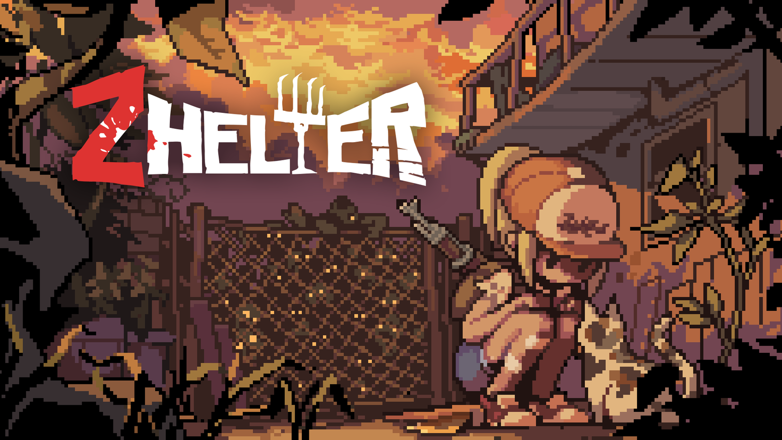 Gather your companions, survive in Zombie apocalypse! Pixel-Art Survival Action Game <Zhelter>