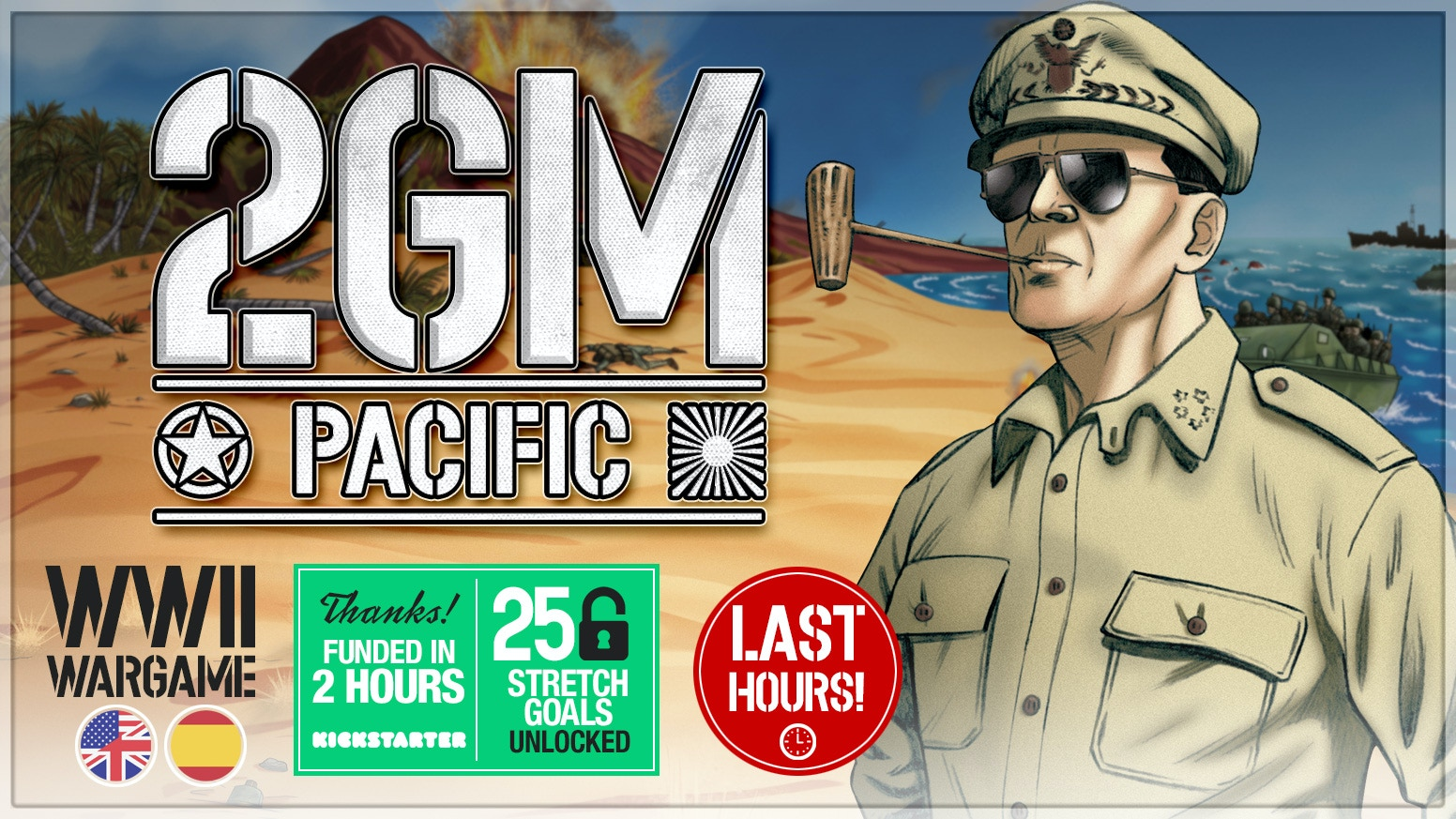 This great WWII wargame is back: 2GM Pacific is a standalone title, fully compatible with the 2GM Tactics series games and expansions.