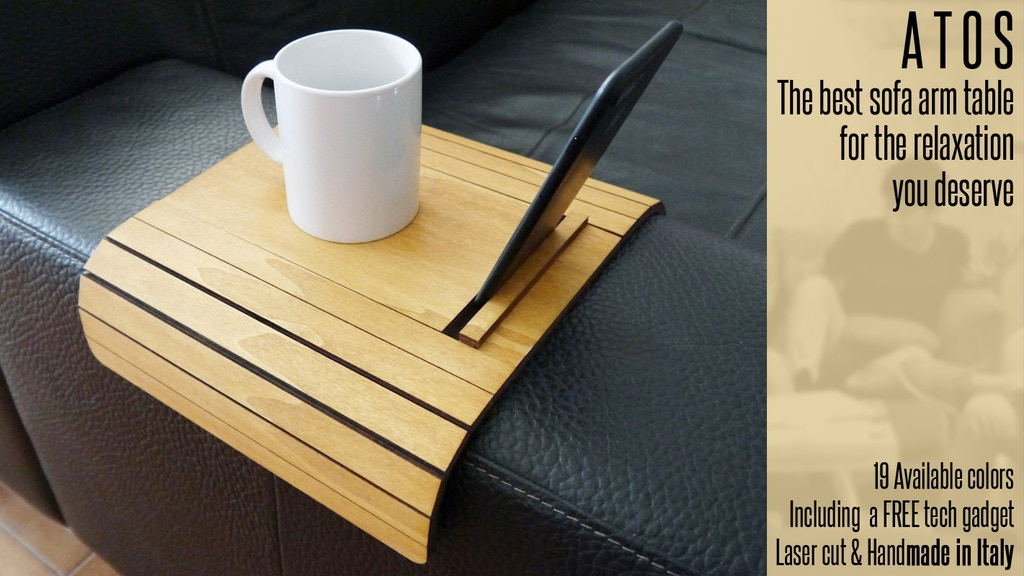 Project image for The contemporary slinky sofa armrest table now in 19 colors!