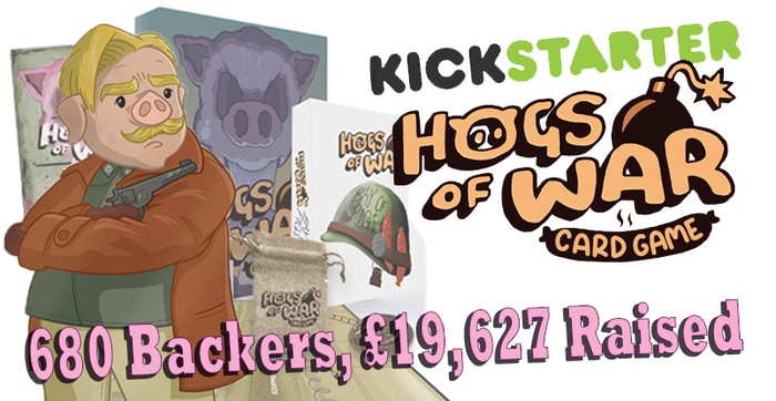 A card game adaptation of the beloved cult-classic PS1 Video Game title Hogs Of War.