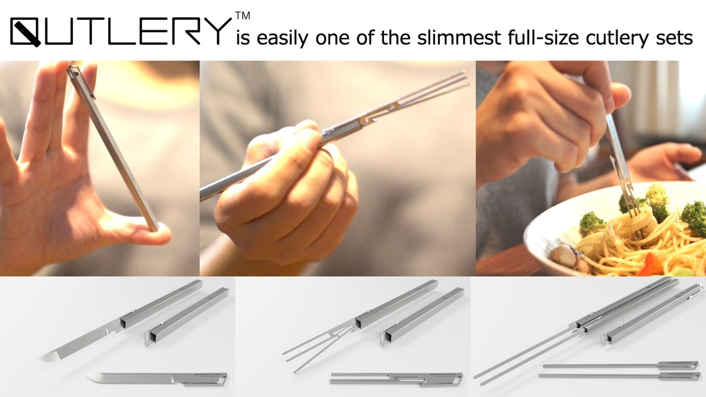 QUTLERY : full-size cutlery sets for travel & daily use project video thumbnail