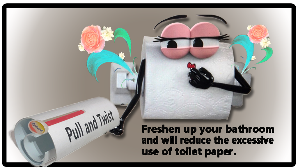 Project image for Pull and Twist (Refreshes bathrooms and saves toilet paper)