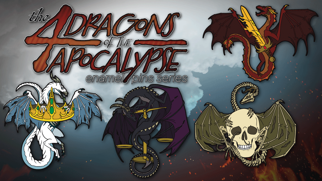 The Four Dragons of the Apocalypse Enamel Pin Set project video thumbnail