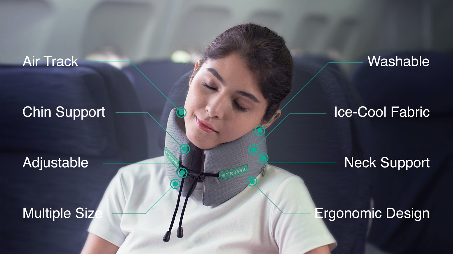 Travel Pillow with Soft and 360 Degree All-Round Neck Support