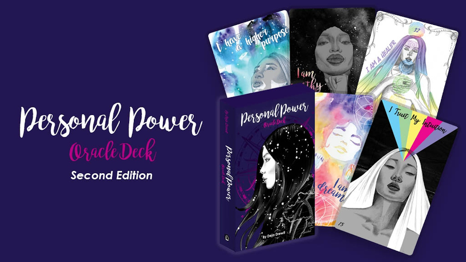 Empowerment cards to help with self-love  and nurture your soul. Discover many personal powers within and strengthen your confidence.
