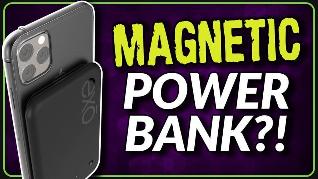 Magnetic Wireless PowerBank, Portable Battery, Phone Charger