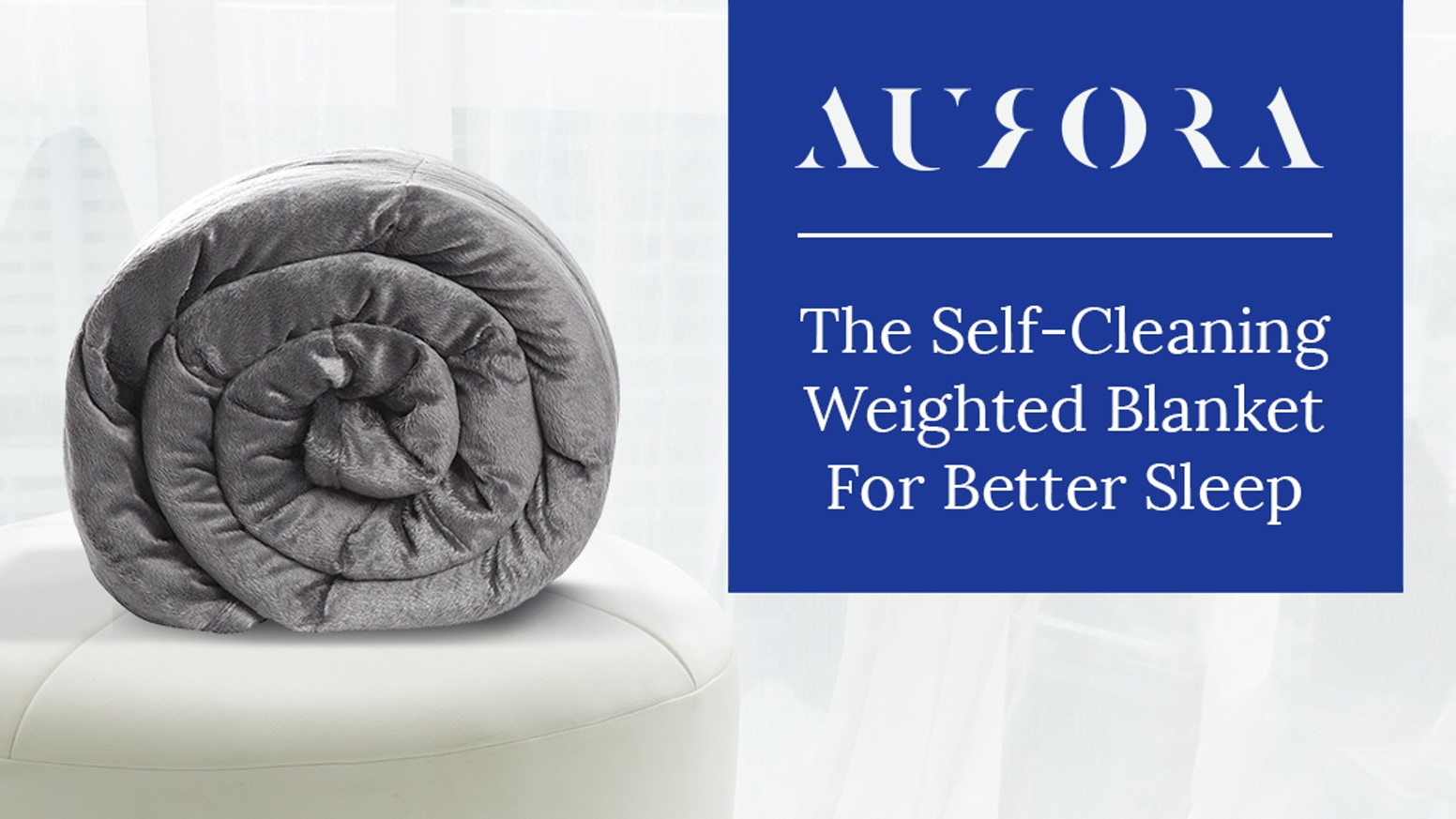 Snuggle the stress away while copper-infused fabrics cleanses. PRE-ORDERS AVAILABLE NOW ON www.aurorablanket.com!