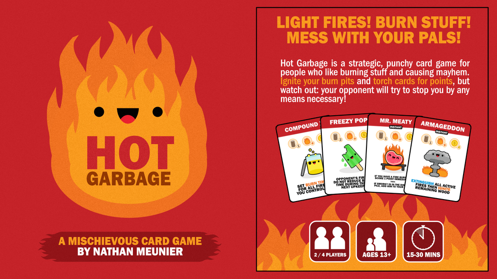HOT GARBAGE: A strategic, punchy card game for pyros! project video thumbnail