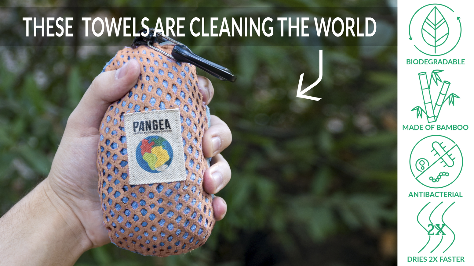 A sustainable and biodegradable towel to clean the world