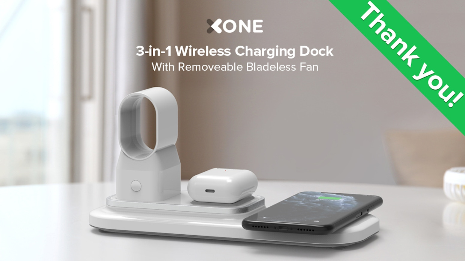 Designed to efficiently charge your Apple Watch, iPhone and Airpods Pro simultaneously. Say goodbye to tangled cables on your desk.