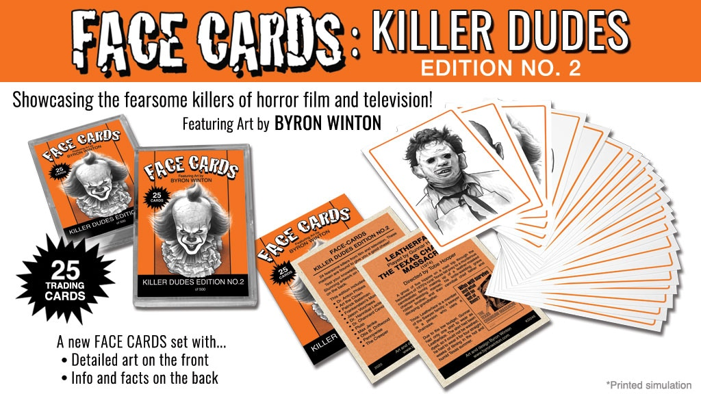 Project image for FACE CARDS: KILLER DUDES - Edition No. 2