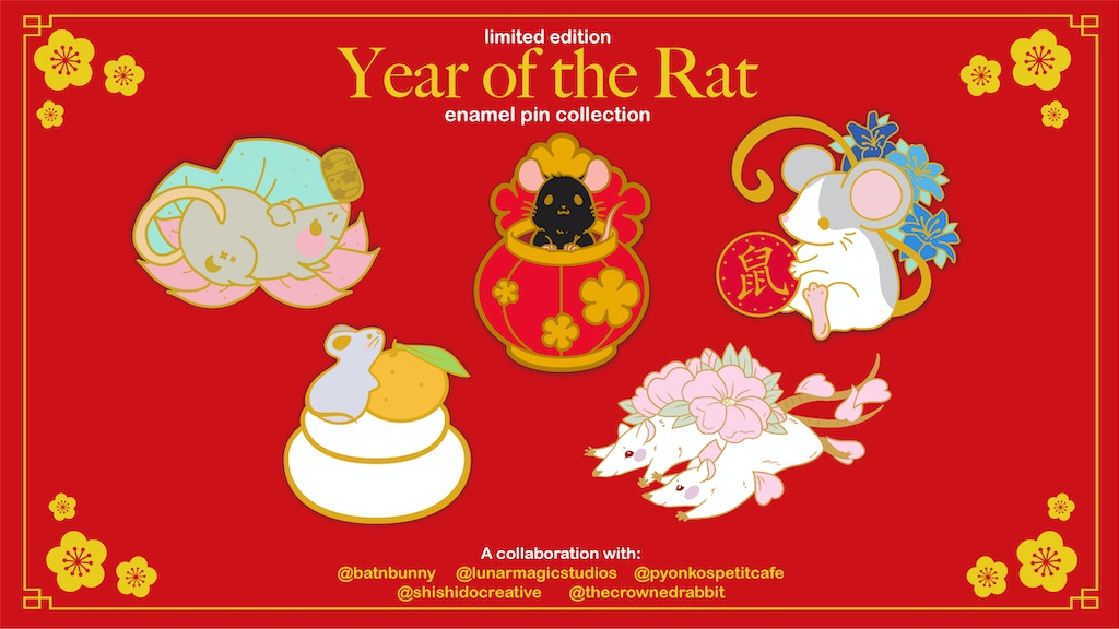 Project image for Year of the Rat (2020) : Enamel Pin Collaboration (Make 100)