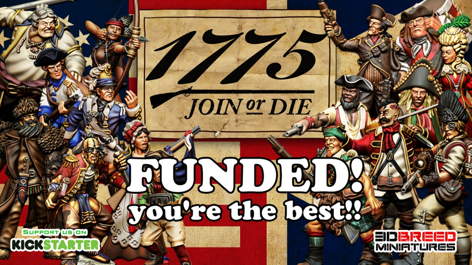 32mm Skirmish miniature game set in the American Revolutionary War, to print and play in your home 3d printer.