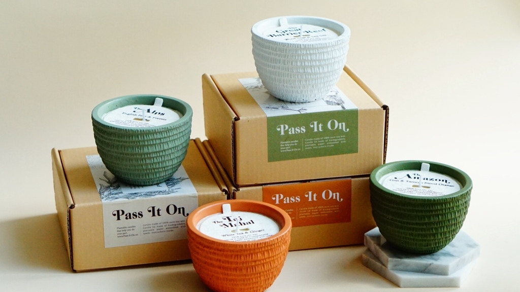 Pass It On: plantable candles that help you do your part