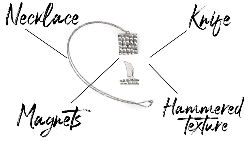 Knifelace®   World's Most Elegant Knife Necklace Pendant EDC project video thumbnail