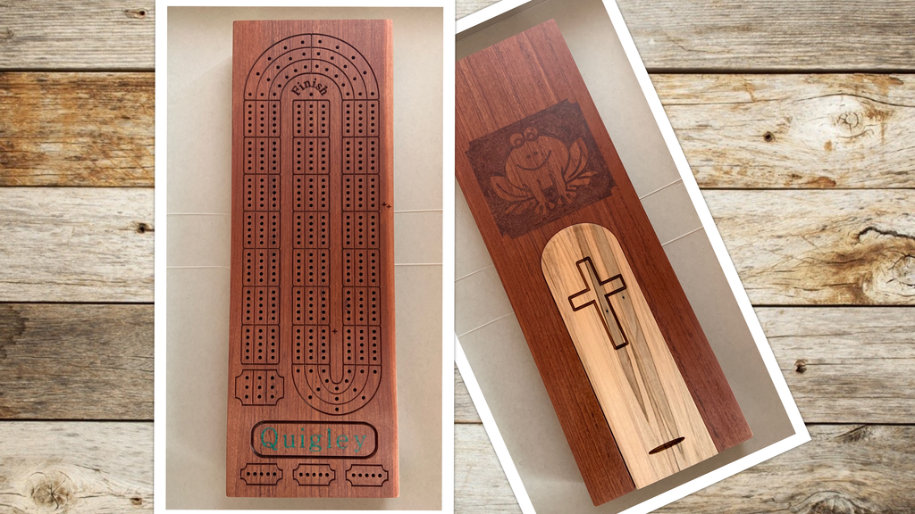 Project image for Customized Hardwood Cribbage Board -- MAKE 100