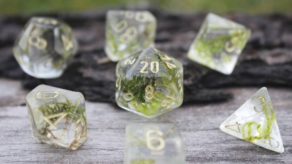 Project image for Make 100: «Mystic Moss» handmade D&D moss dice