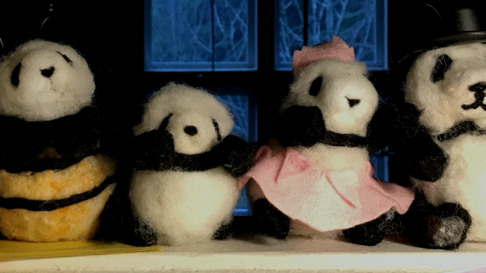 Nobody expects the panda kindergarten & these tiny needle felted pandas are small enough to carry with you wherever you go!