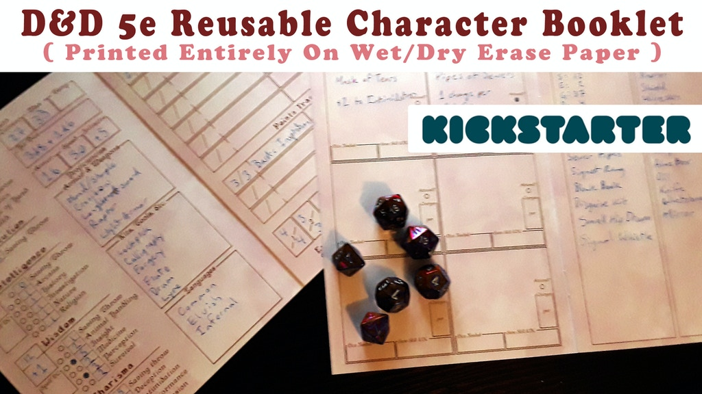 D&D 5e Character Booklets Printed on Wet/Dry Erase Paper project video thumbnail