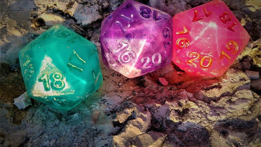 Project image for Neon Knights - Dice That Glow