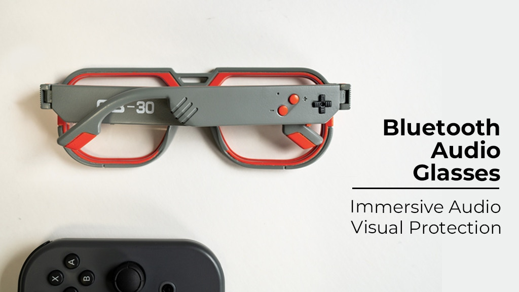 Mutrics GB-30: Ultra Slim Smart Audio Glasses For Gamers project video thumbnail