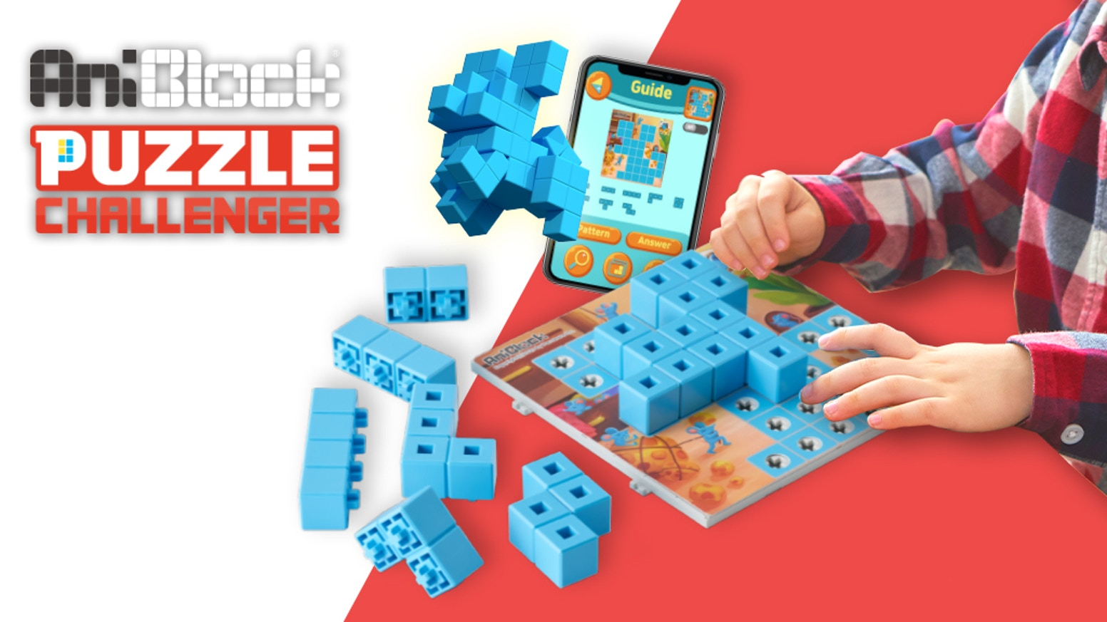 AniBlock is a STEM toy that allows children to solve complex multisolution puzzles in order to develop practical problem-solving skills