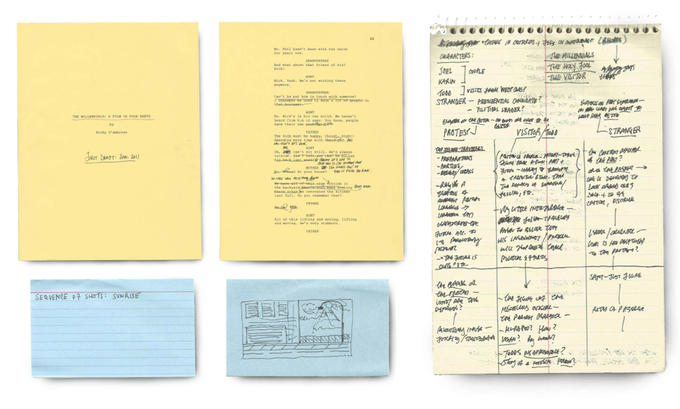 Filmmaker Ricky D'Ambrose offered pages from the script of his film Notes on an Appearance as a reward