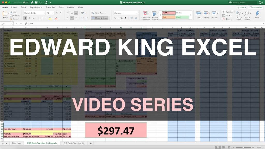 Edward King Excel Video Series