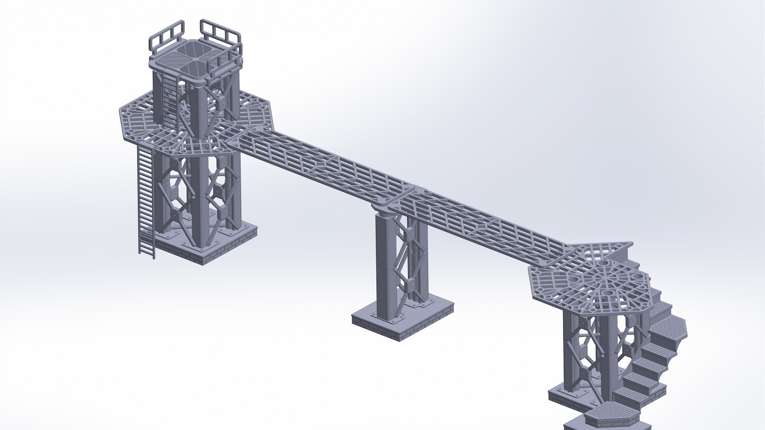STL Files of Modular Tower & Walkway