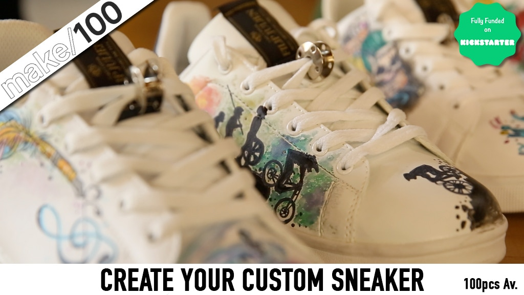 MAKE 100 | Your Limited Tattooed Sneaker Different White project video thumbnail