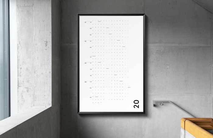 A wall calendar that will make 2020 feel like a breath of fresh air.