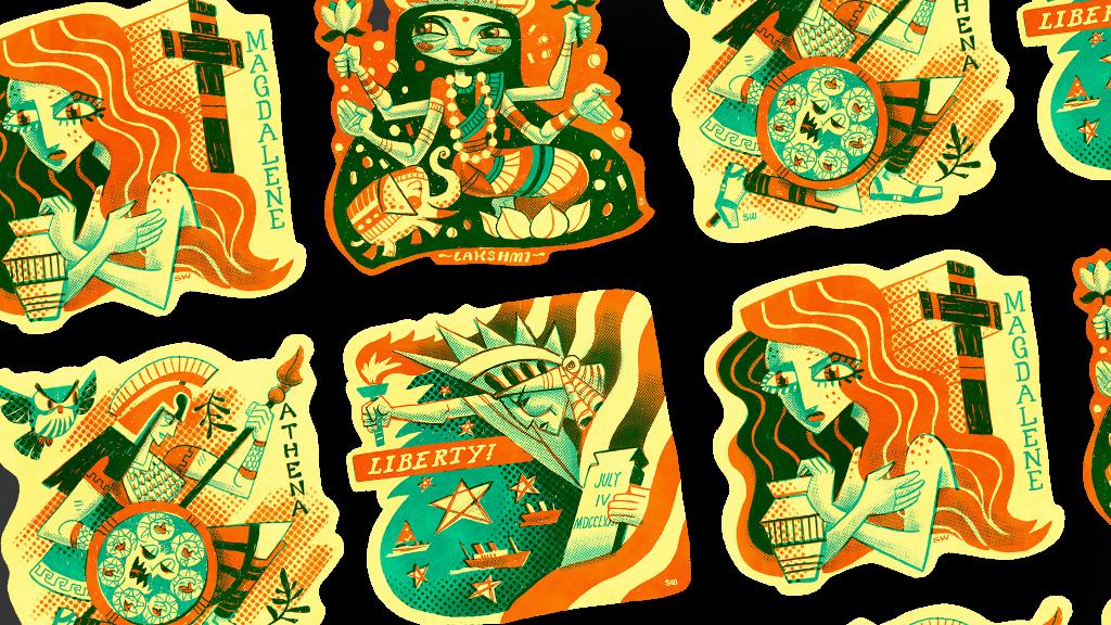 Make 100: Historical Female Deity Stickers (Limited-Run)
