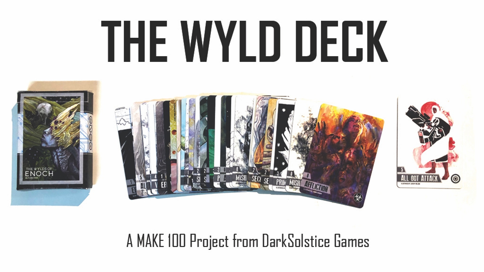 A Limited Edition Wyld Card Deck for the Wylds of Enoch TTRPG