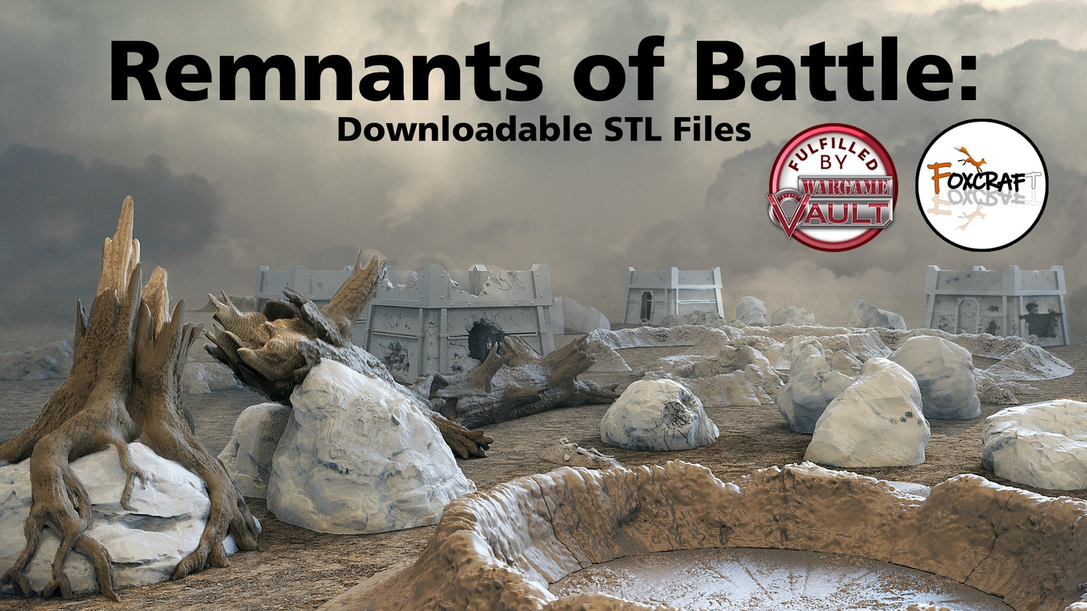 Downloadable STL Files for battlefield terrain.