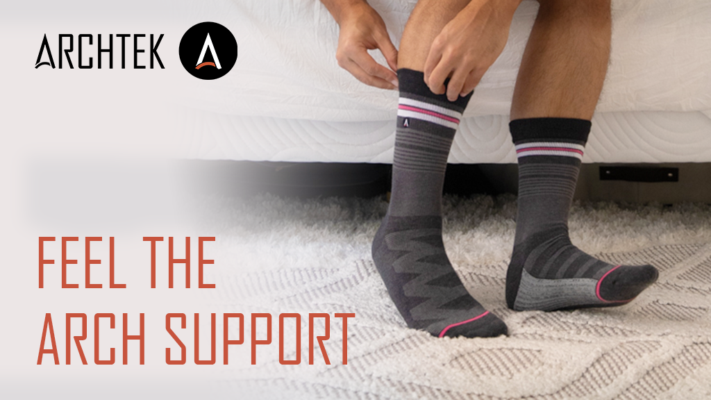 ArchTek® Socks: Feel the Arch Support without an insole! project video thumbnail