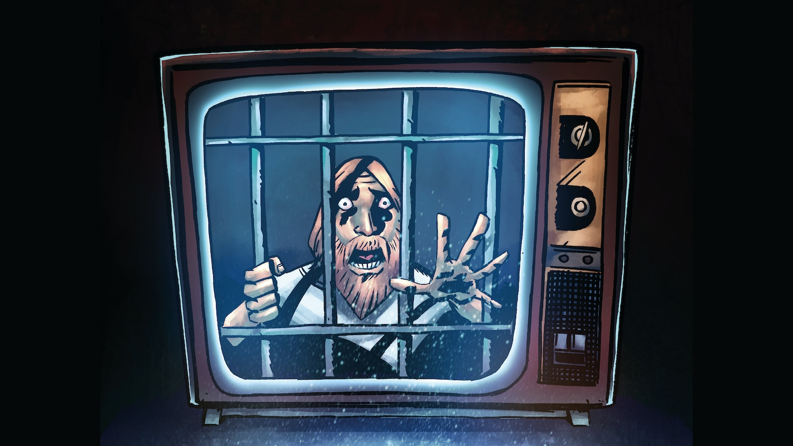 A graphic novel exploring reality TV and the lunatics that create it - where they take a man, lock him in a room and film him going mad